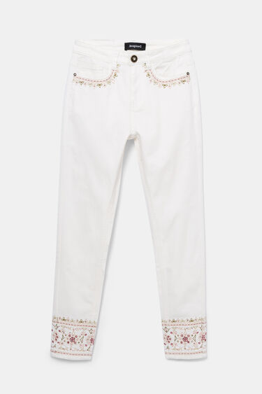 Skinny ethnic embroidery jeans | Desigual
