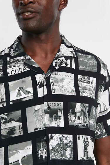 Camisa amb fotos de postals | Desigual