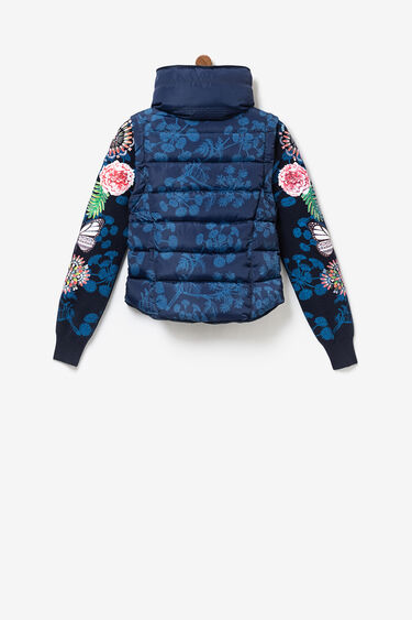 2 in 1 jacket removable sleeves tricot | Desigual