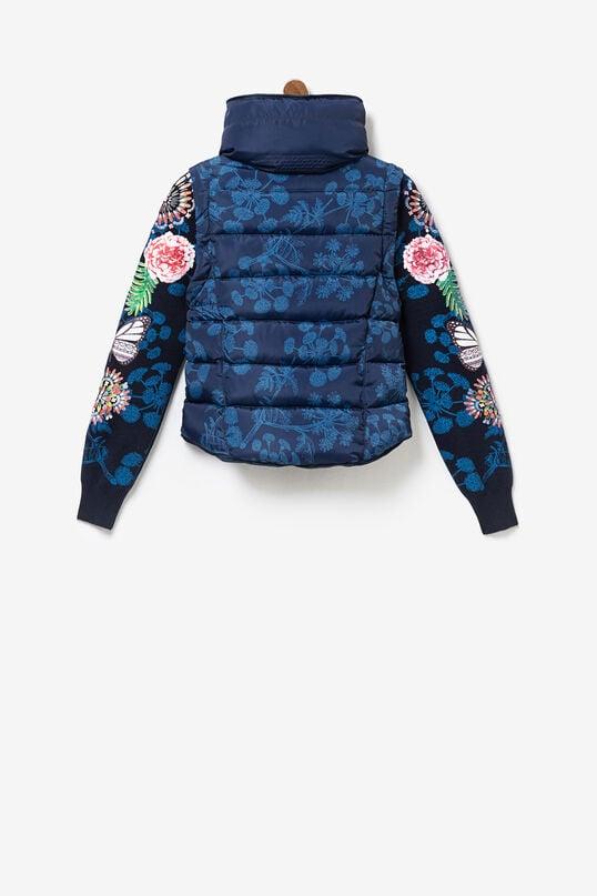 2-in-1 jack met afneembare tricot mouwen | Desigual