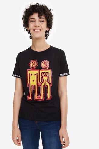 T-Shirt mit Roboter-Logo Twins