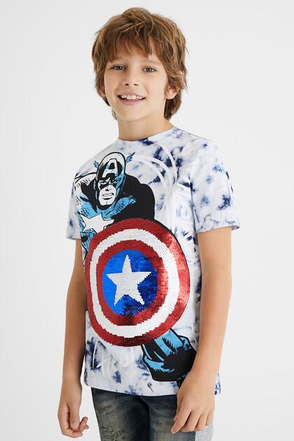 T-shirt Captain America sequin réversible