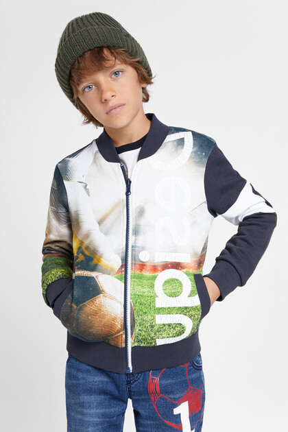 Reversible football sweatshirt