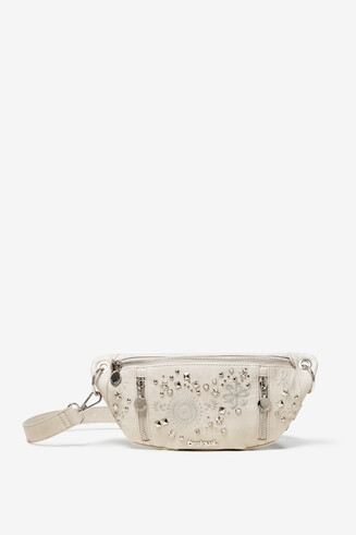Studded White Bum Bag Agra