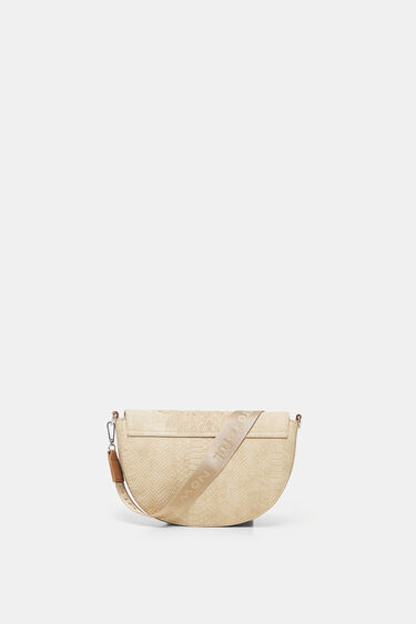 Crossbody bag reptile leather-effect | Desigual