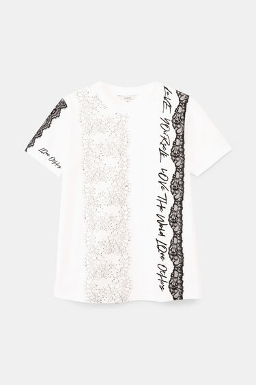 Romantic T-shirt with messages | Desigual