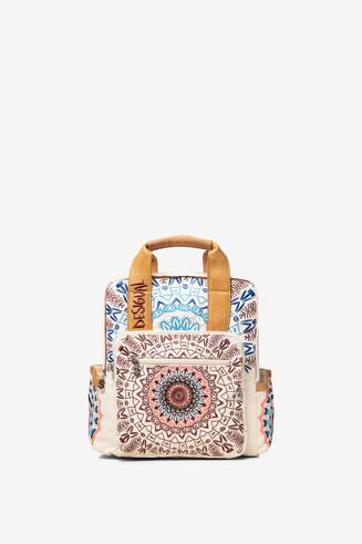 Embroidered mandala backpack