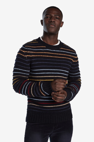 Tricot jumper multicolour stripes