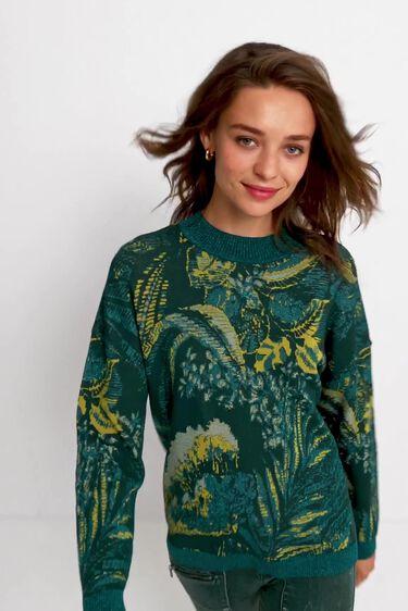 Tropical knit jumper | Desigual