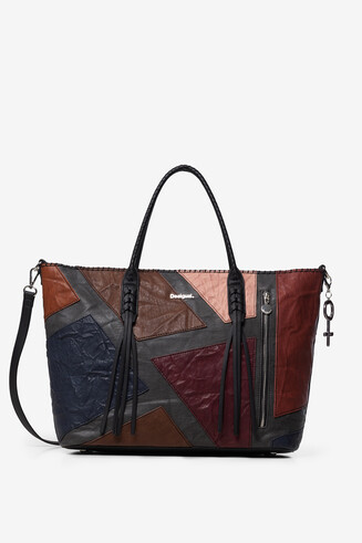 Shopping bag cremallera vertical