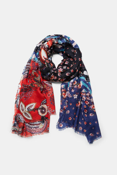 Rectangular blocks foulard | Desigual