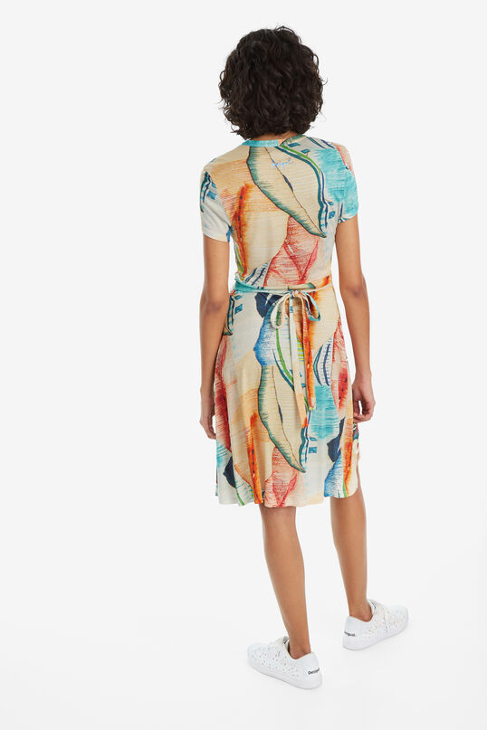 V-neck Arty Print Dress Luana | Desigual