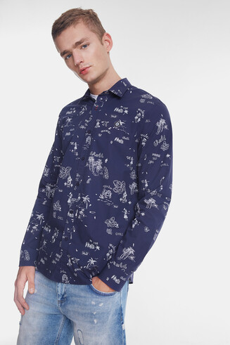 Shirt Hawaiian bolimania print