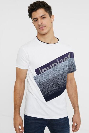 100% cotton textures T-shirt | Desigual