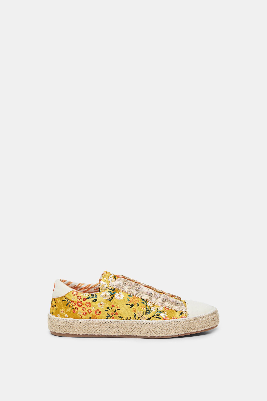 Zapatillas suela esparto flores - YELLOW - 37