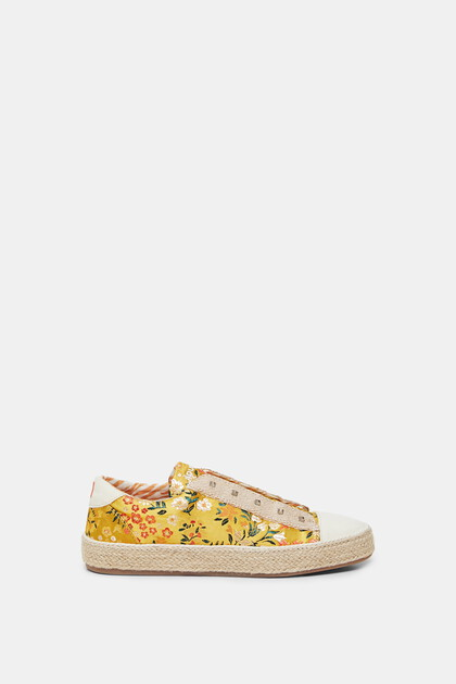 Sneakers esparto sole flowers