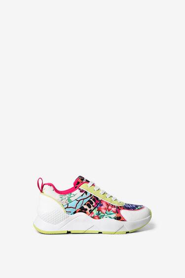 Floral y animal patch sneakers | Desigual