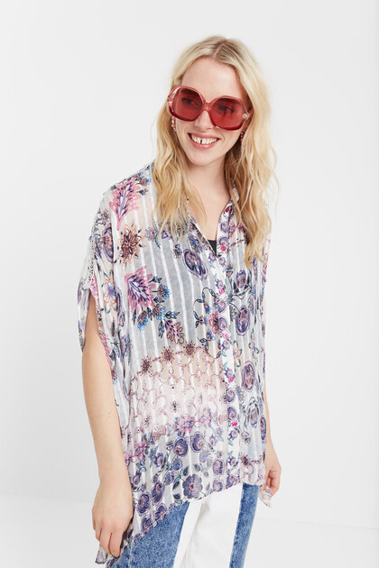 Boho short sleeve shirt