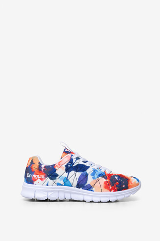 Floral Running Trainers Camo Flower