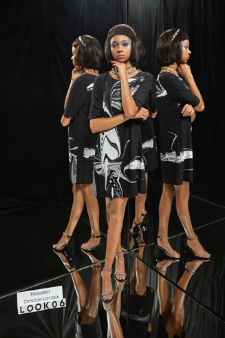 Viscose T-shirt dress Designed by M. Christian Lacroix