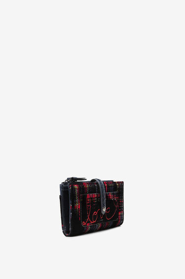 Rectangular tartan coin purse | Desigual