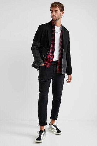 Bimaterial blazer | Desigual