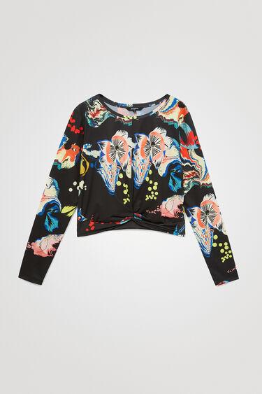 ウエストギャザー 花柄Tシャツ | Desigual