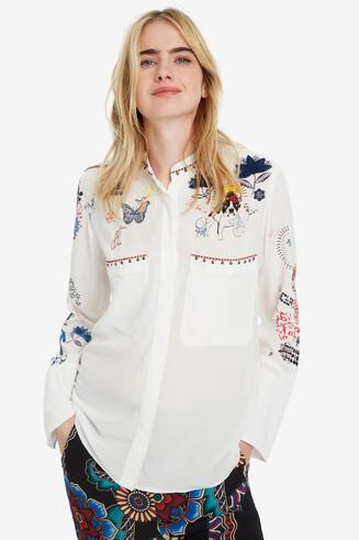 White Long-sleeved Shirt Xenia