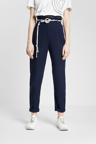 Baggy trousers with string