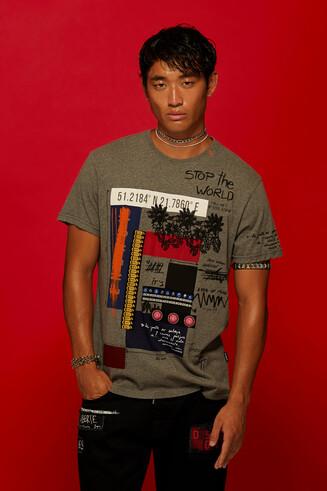 100% cotton varied print T-shirt