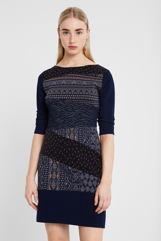 Jacquard short dress