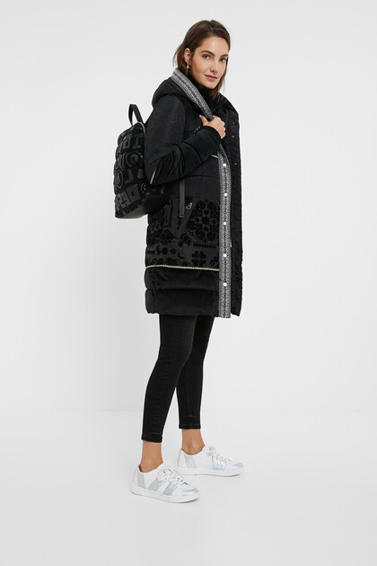 Boho padded coat