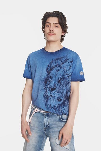 ボールペンタッチ風 マキシライオン Tシャツ