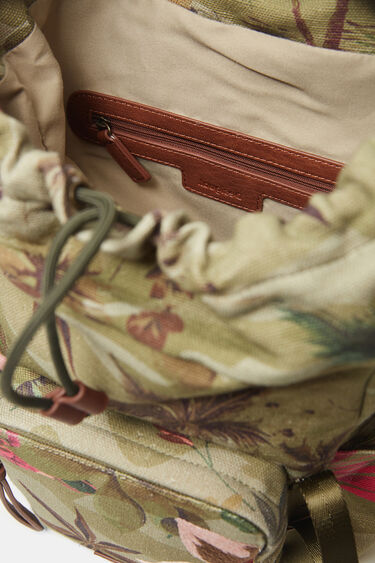 Backpack floral embroideries | Desigual