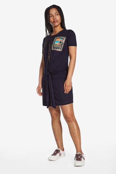 Knotted T-shirt dress | Desigual