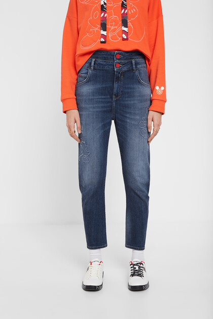 Pantalon en jean boyfriend Mickey