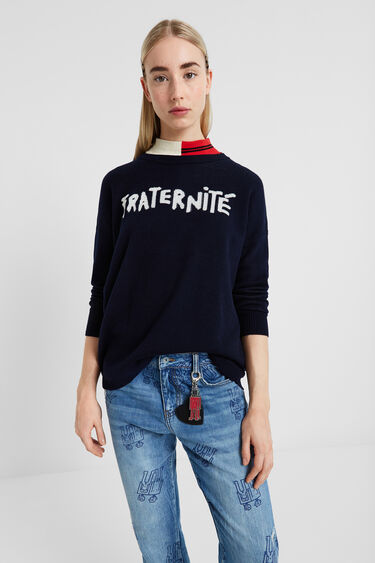 Pull tricot Fraternité | Desigual