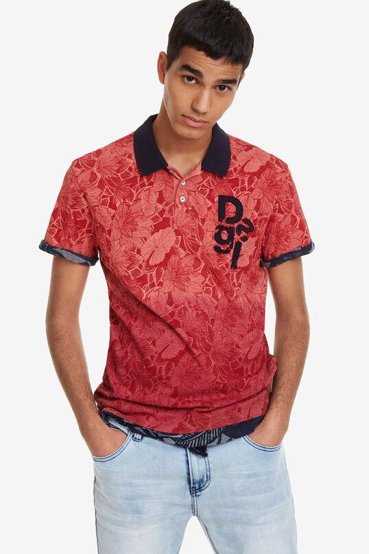 Tropical Print Polo Shirt Traze   Desigual