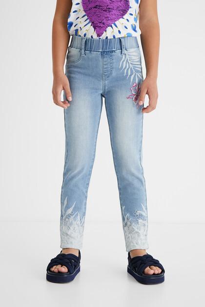 Legging en jean imprimé