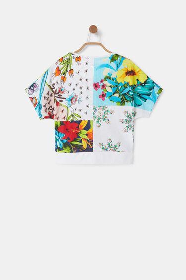 Camiseta oversize patch flores | Desigual
