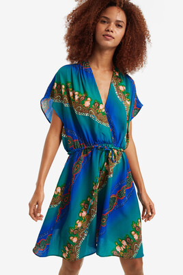 8d71b48e741 V-neck Flared Dress Elan