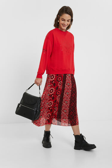 Oversize mandala sweatshirt | Desigual