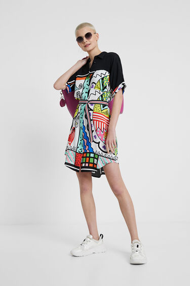 Artistic short shirt dress | Desigual