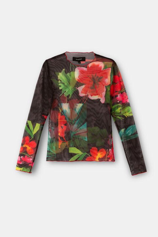 Samarreta tul floral   Desigual