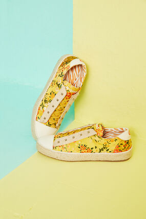 Schuhe Esparto-Sohle Blumen