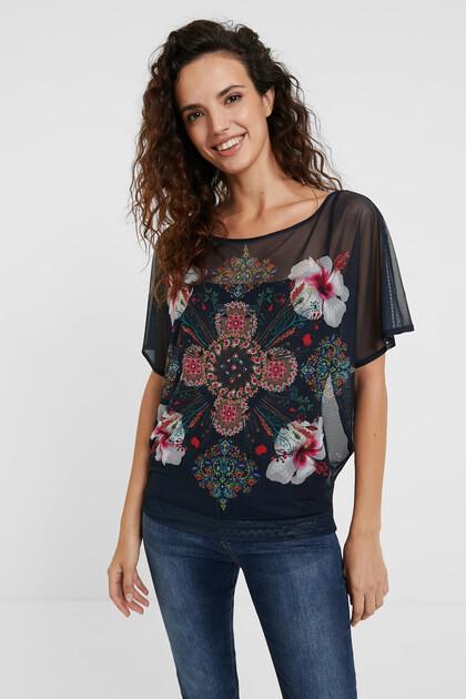 Shirt met korte mouwen en bloemenprint