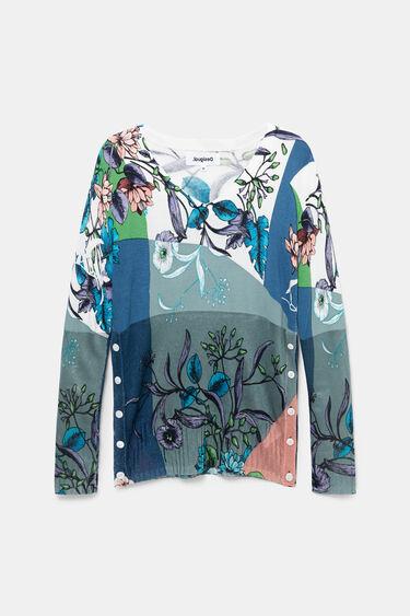Feinstrick-Pullover seitliche Knöpfe | Desigual