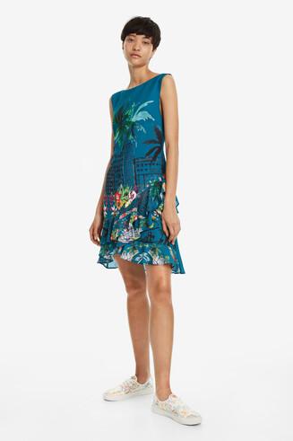 Flared Tropical Dress Harringtown