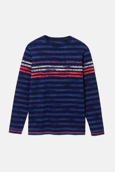 T-shirt à rayures 100% coton | Desigual