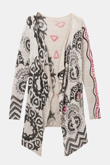 Cardigan en tricot boho | Desigual